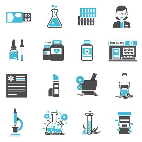 Conjunto de iconos de farmacia
