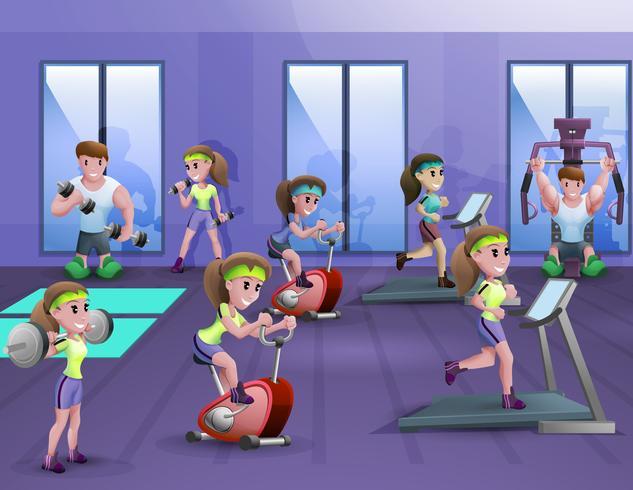 Affiche de salle de fitness vecteur