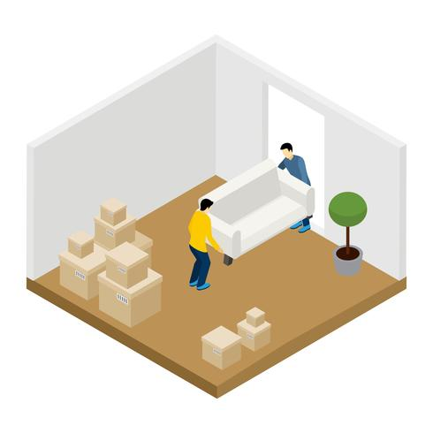 Moving In And Out Illustration