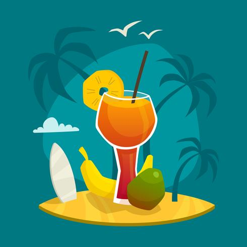 Concepto de jugo tropical vector