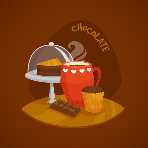 Conjunto de conceito de Design de chocolate