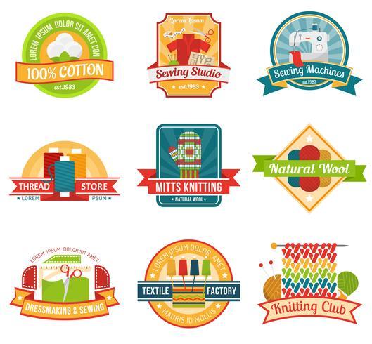 Textil emblem set