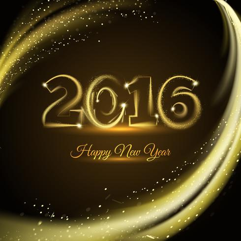 Happy New 2016 Year Print