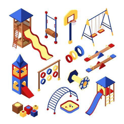 Playground Icons Set vector