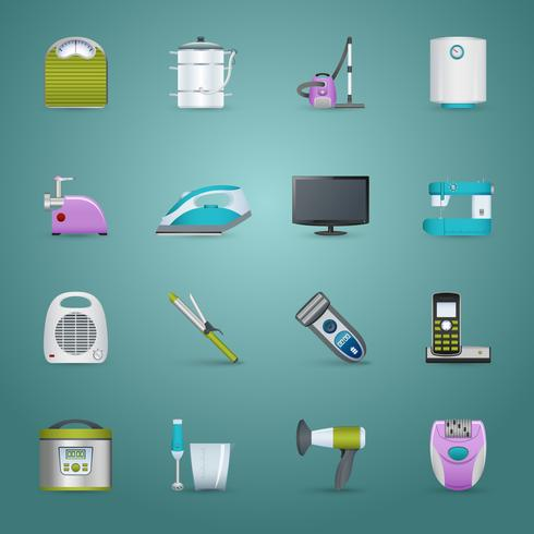 Appareils ménagers Icons Set
