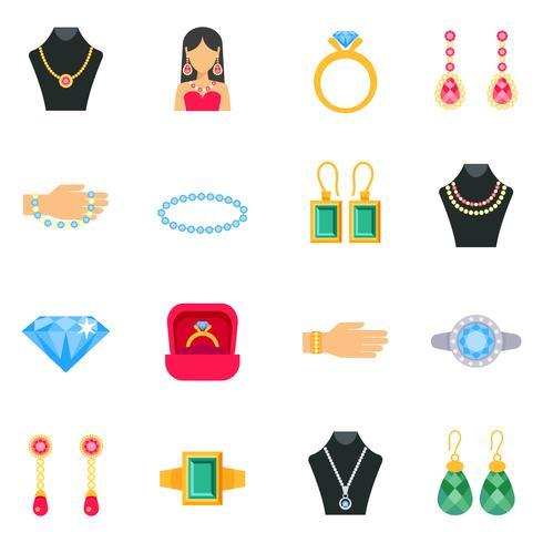 Conjunto de ícones de joias