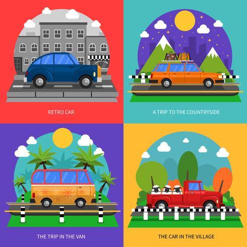 Cars Concept Icons Set