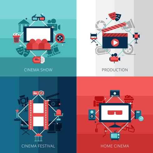 Cinema ontwerpconcept vector