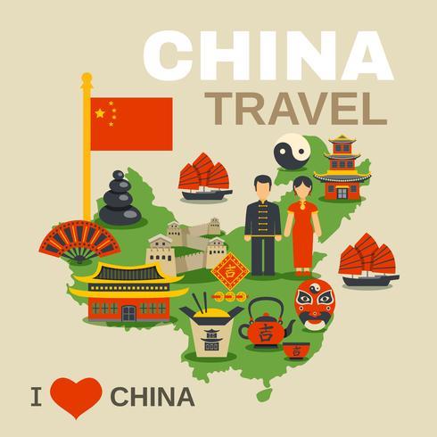 Cartel de la Agencia de Viajes Tradiciones Culturales Chinas