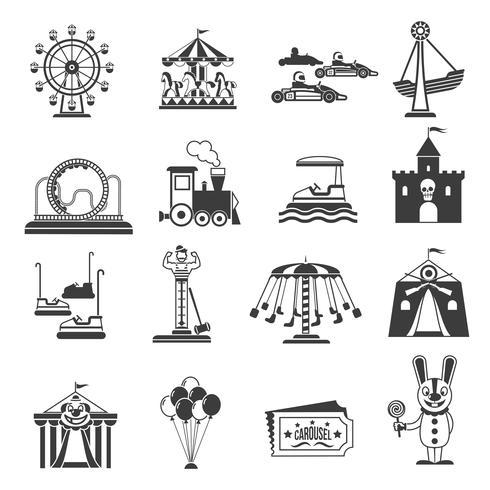 Nöjespark ikoner