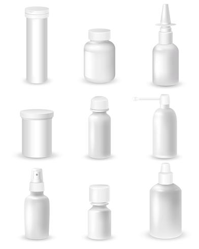 Medicine Bottles Set vector