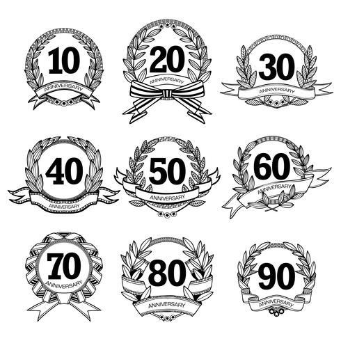 Verjaardagsetiketten instellen vector