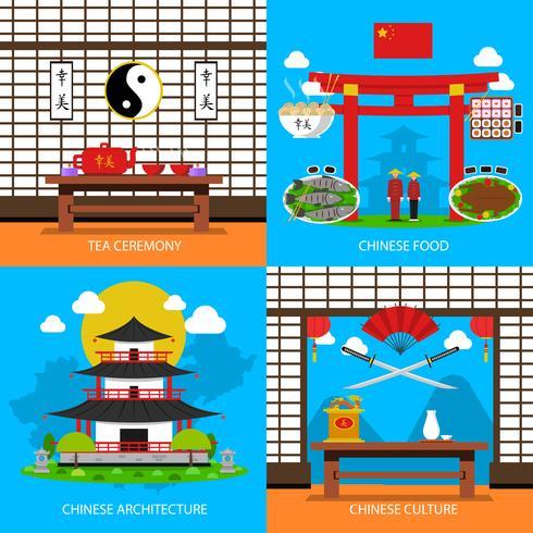Kinesiska koncept ikoner uppsättning