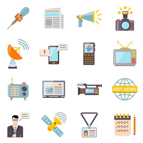 Inställningar för massmedia-ikoner vektor