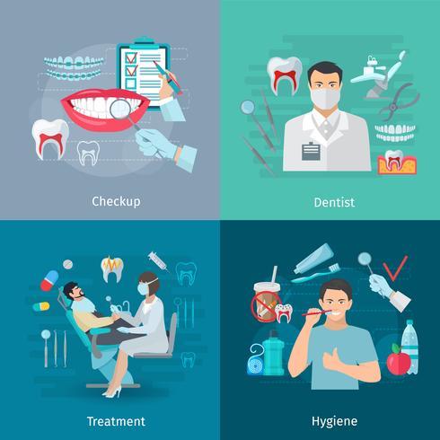 Cuidado de dientes Cuadrado Concept