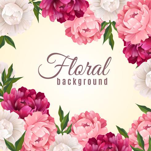 Sfondo realistico floreale