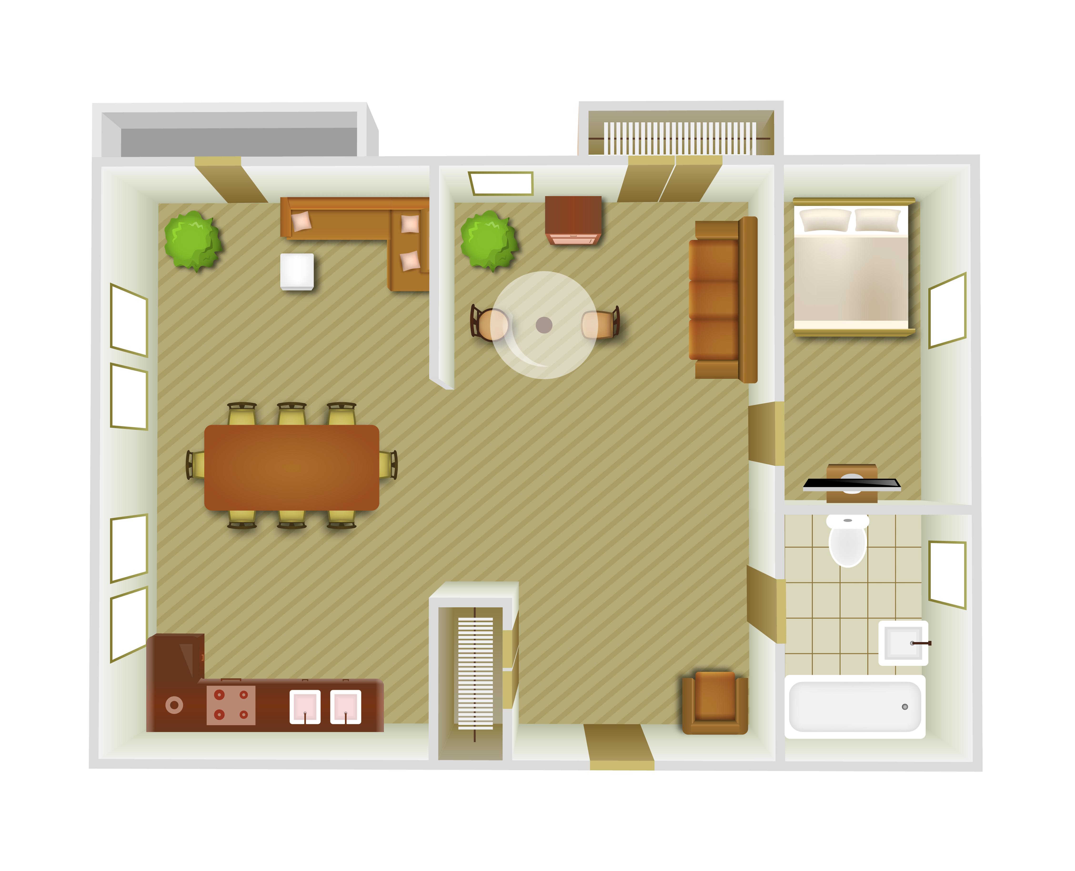 Interior Top View Download Free Vectors Clipart Graphics