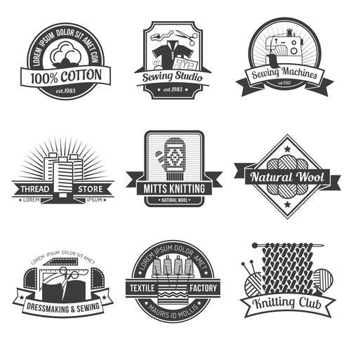 Textil-Emblem-Set
