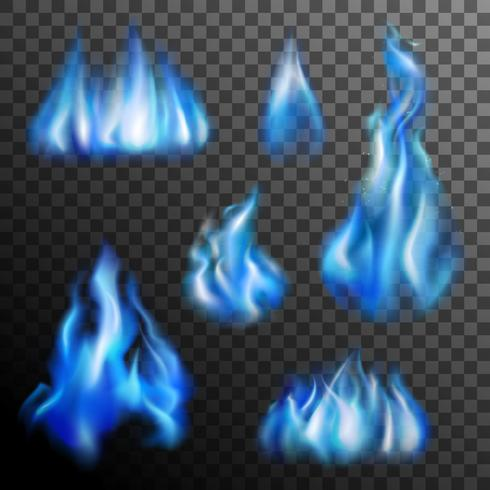 Conjunto Transparente Fuego Azul