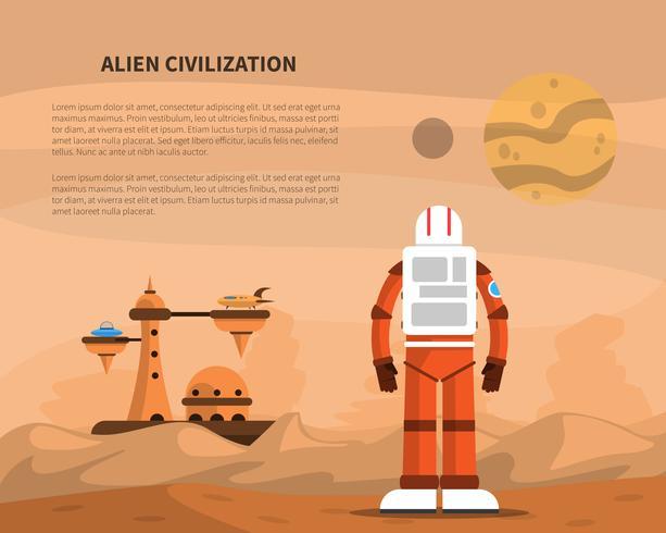 Ilustración del concepto de espacio
