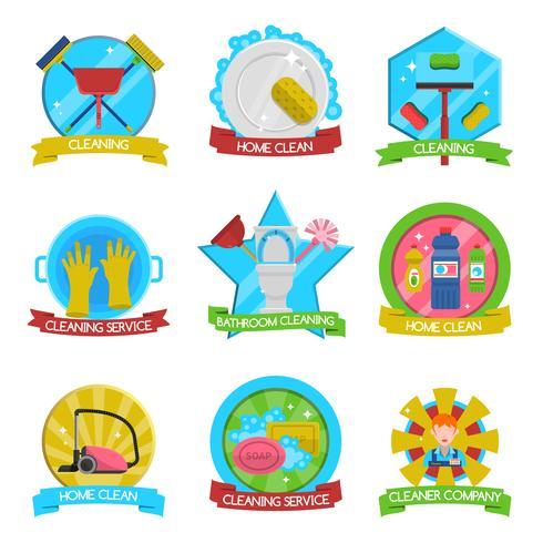 Cleaning Emblems Set
