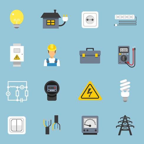Elektriciteit Icons Set