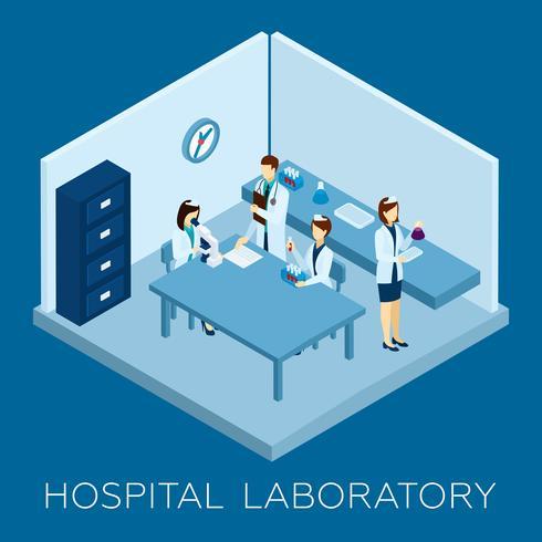 Concept de laboratoire hospitalier vecteur