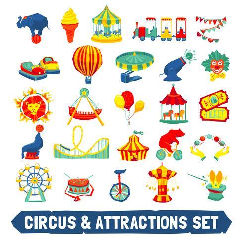 Jeu d'icônes de cirque