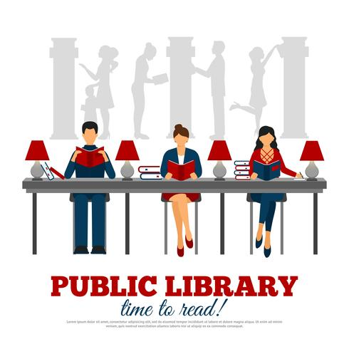 Poster Of Scene In Library