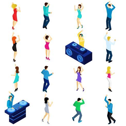 Tanzende Leute isometrisch