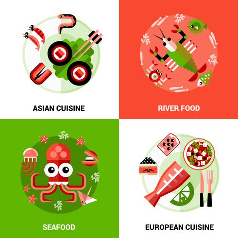 Concetto di design di frutti di mare