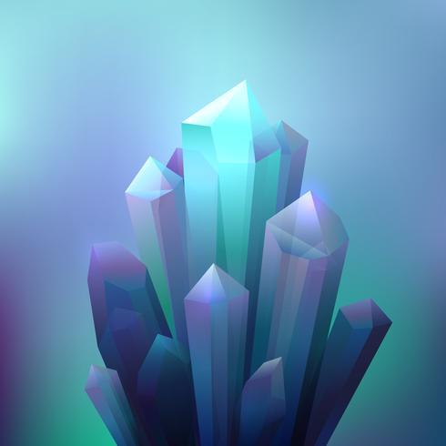 Fondo de minerales de cristal