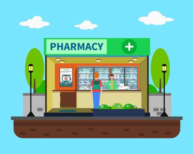 Illustration de concept de pharmacie