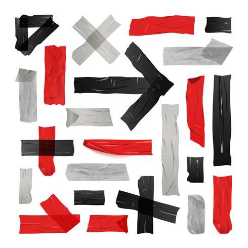 Set de cintas adhesivas de colores vector