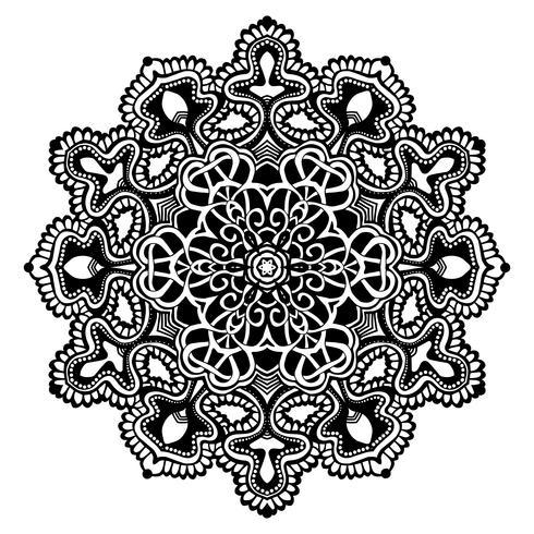 Mandala Svartvit