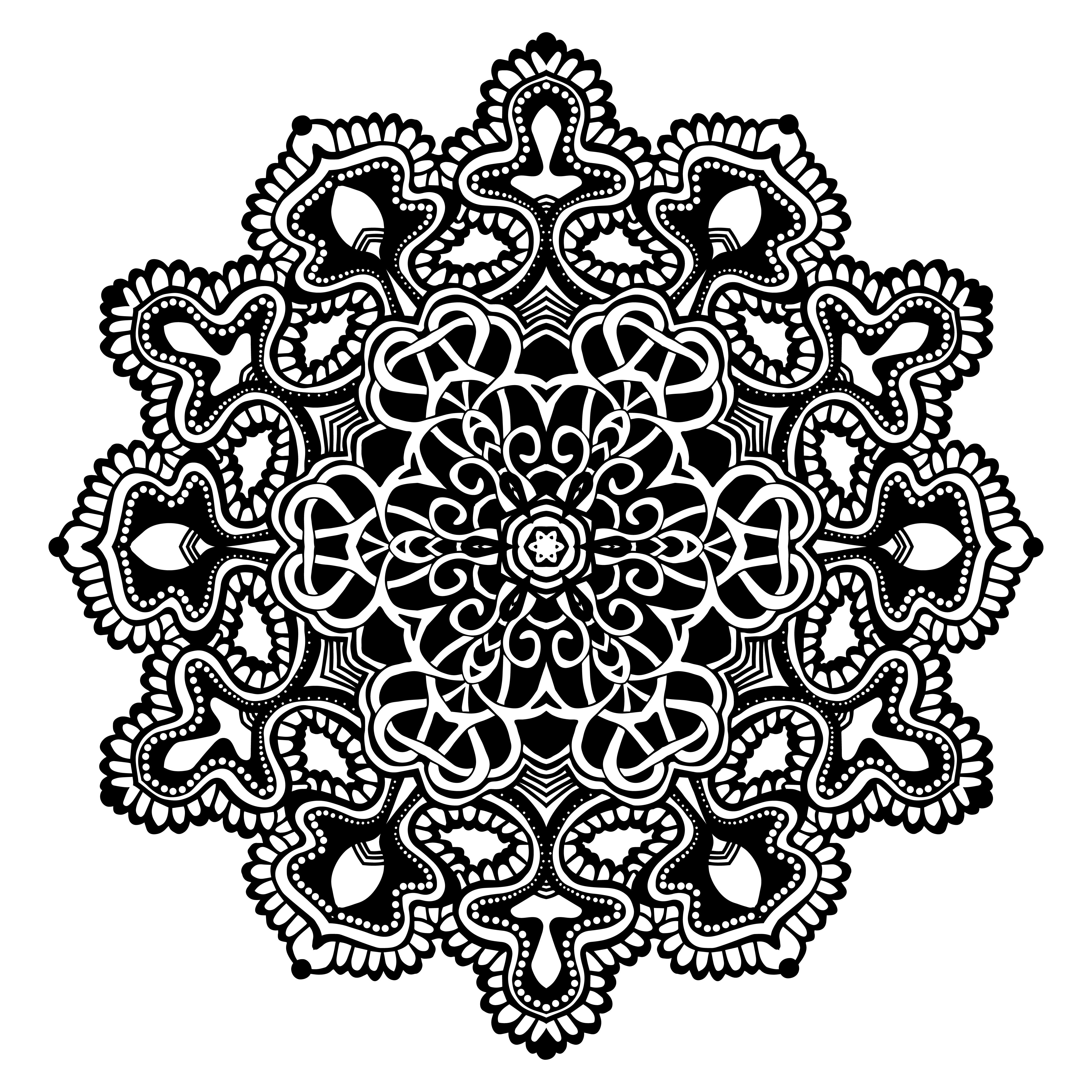 Mandala Black And White Download Free Vectors Clipart