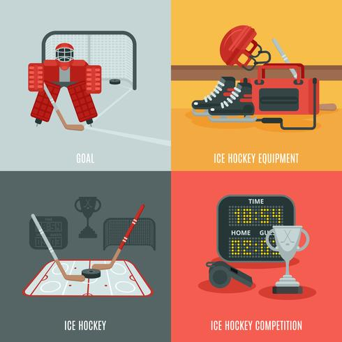 Set di icone di hockey