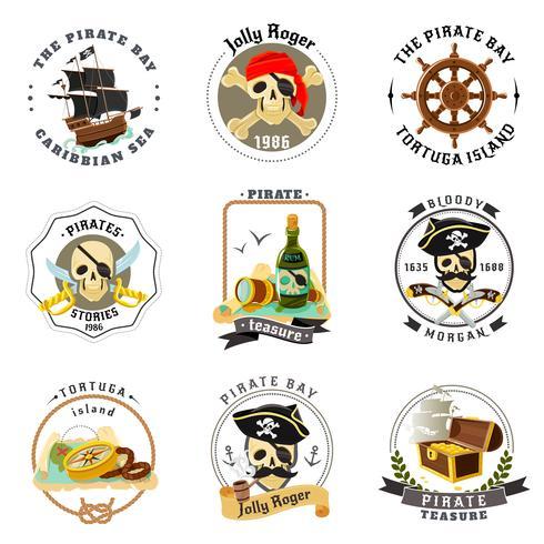 Pirat Embleme Aufkleber eingestellt