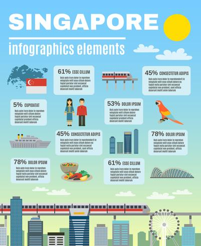 Singapore Kultur Infographic Presentation Layout Banner vektor