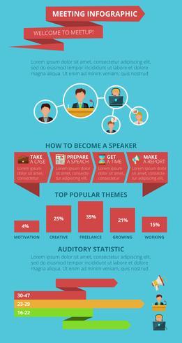 Ontmoeting infographics set