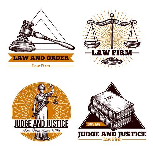 Firma Legal y Conjunto de Logo de Oficina vector