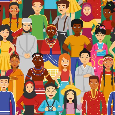 Nations Seamless Illustration