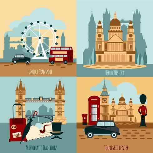 London turistiska set vektor