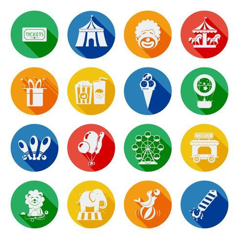 Set piatto icone di circo