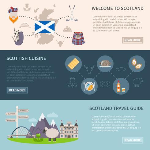 Set de Banners de Escocia vector