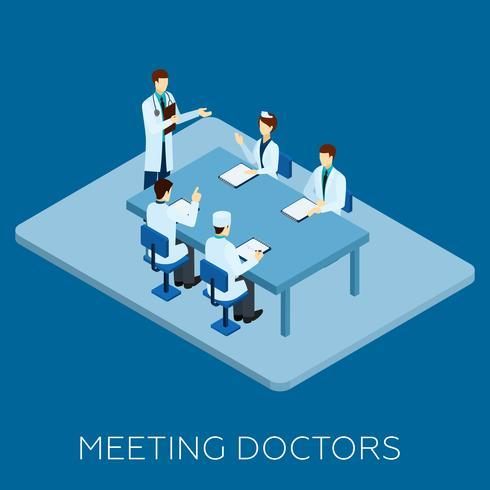 Läkare Möte Koncept