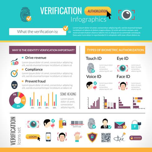 Verifiering Infographics Set