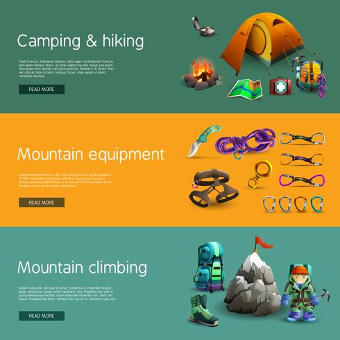 Conjunto de banners 3d interativo de escalada