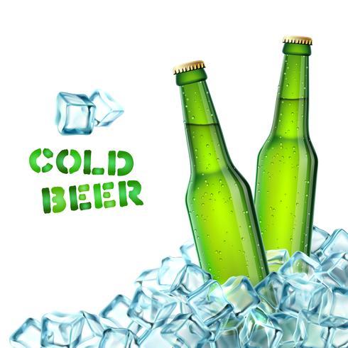 Bottiglie di birra e ghiaccio