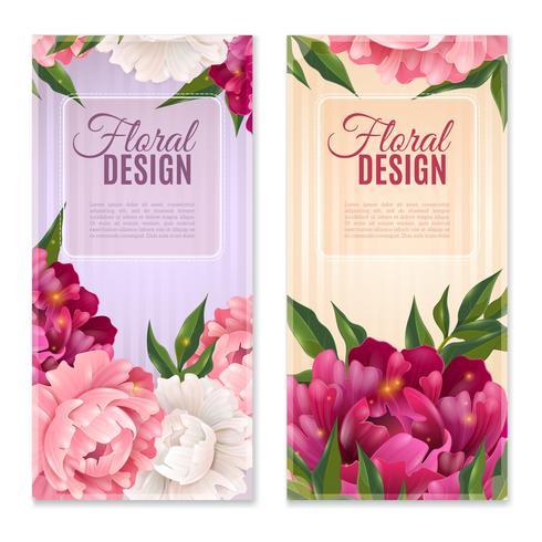 Blommor Design Banners Set